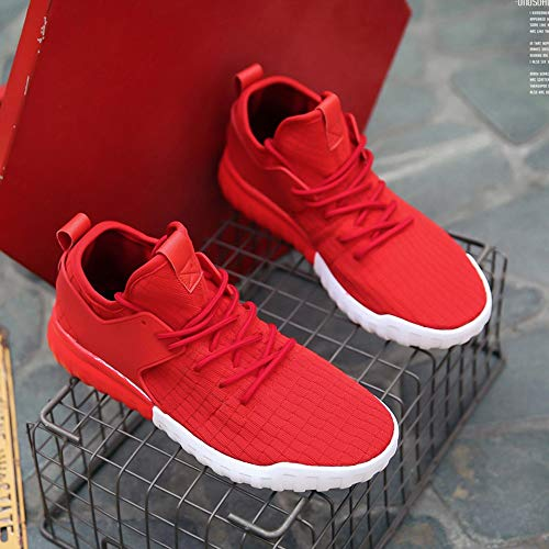 45 Woven White Casual Red 39 JERFER Shoes Sport Sneakers Breathable Black Couples Red Shoes Shoes Women OaxwzqS