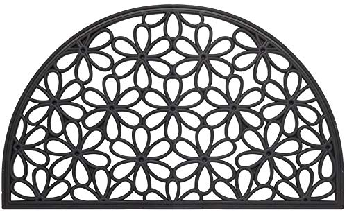 - Envelor Home and Garden Rubber Outdoor Doormat Scroll Wrought Iron Welcome Door Mat Entrance Floor Mat - 16