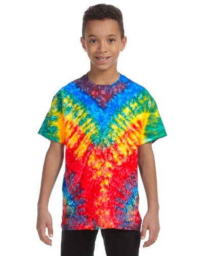 Tie-Dye Youth 5.4 oz., 100% Cotton Tie-Dyed T-Shirt, Small, - At Woodstock Outlets