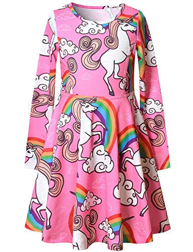Cute Unicorn Dresses for Girls 7-16 Birthday Party Clothes Outfits