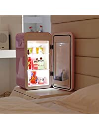 Household mini refrigerator, Small fridge 16l dormitory office breast milk cosmetics medicine refrigerator-pink 27x26.6x49.3cm(11x10x19inch)