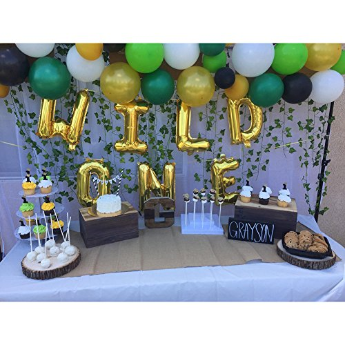 41cm WILD ONE Kids First Birthday Balloons Baby Girl Boy 1st Bday Party Supplies With Air Pump Amazonau Toys Games