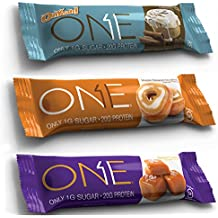 Oh Yeah! One Bar, New Flavors Variety Pack, 2.12 oz/12 bars (4 Cinnamon Roll, 4 Salted Caramel, 4 Maple Glazed Doughnut)