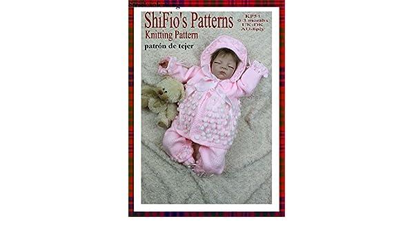 patrón para dos agujas - KP54 - chaqueta matinée, pantalones, sombrero y botitas/patucos para bebé (Spanish Edition) - Kindle edition by shifio patterns.