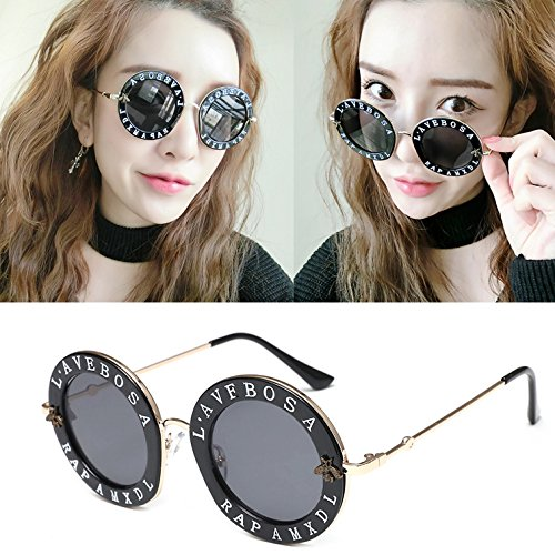 de de ZZ Personalidad Leopardo Marco de Sol gris la negra del Metal Marea Coreanas Gafas negro la Caja rAqnRq5I