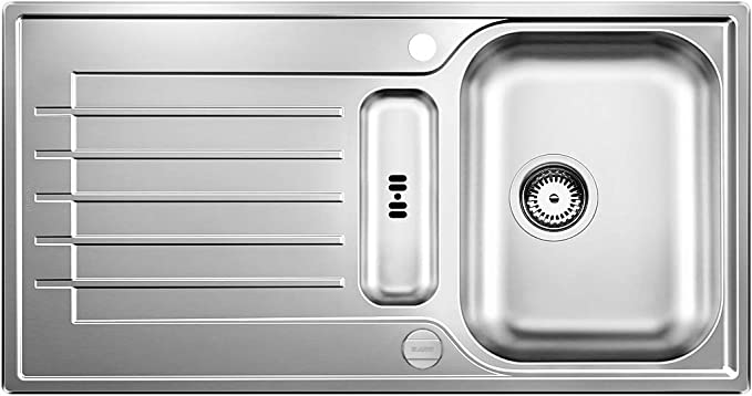 Fregadero BLANCO Zia 5s 3.5 , 950 mm Acero inoxidable, 1 senos, 420 x 330 mm, 16,4 cm, 8,89 cm
