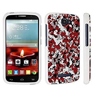 linJUN FENGDuroCase ? Alcatel OneTouch Fierce 2 7040T (2014 Released) Hard Case White - (Camouflage Red)