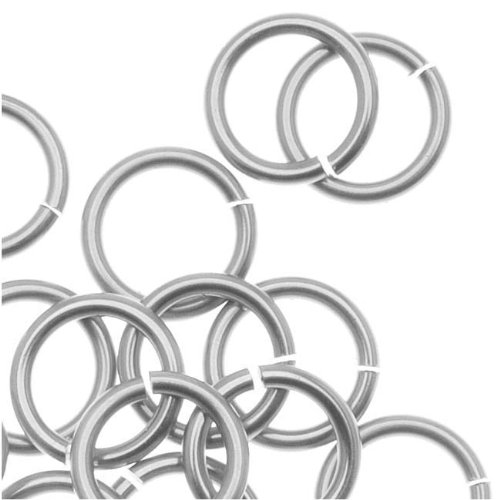 - Artistic Wire Chain Maille Jump Rings Non Tarnish Silver Plated - 18 Ga/ID 5.95mm/45pc