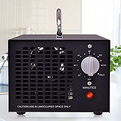 Costway Commercial Ozone Generator 5000mg Cleaner Industrial O3 Air Purifier Deodorizer Sterilizer Black