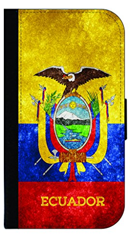 (Ecuador Grunge Flag-TM Apple iPhone 5c Universal PU Leather and Suede Wallet Style Phone Case Made in the)