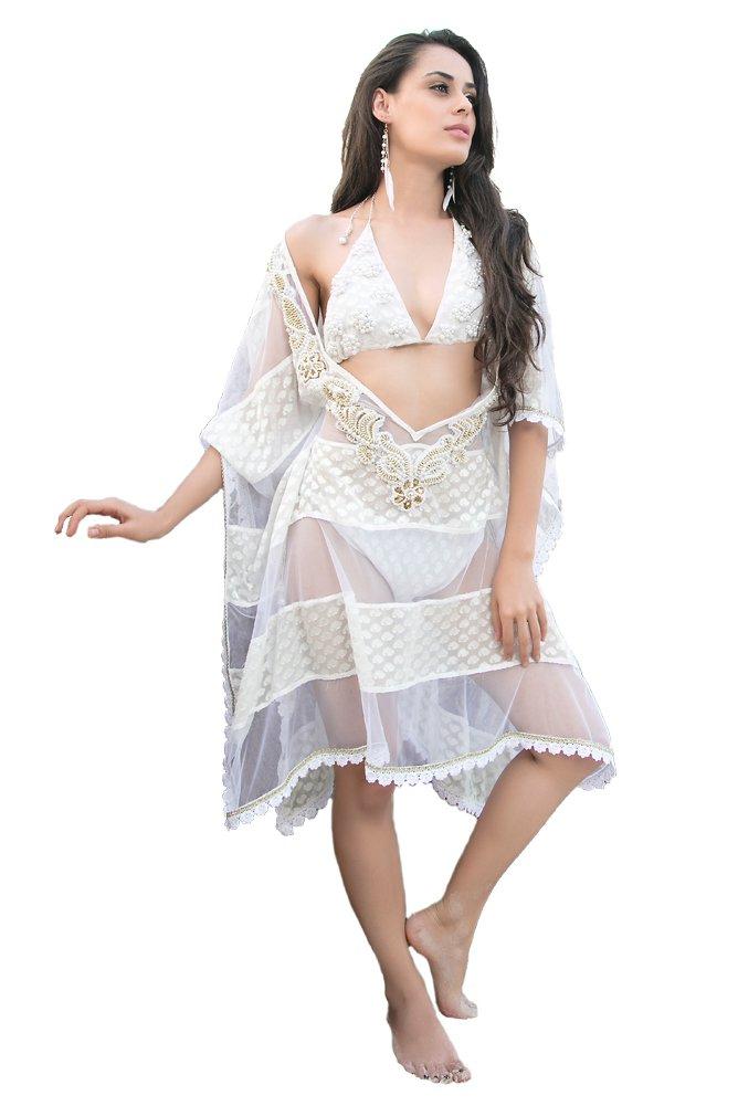 Kolkozy Fashion Women's Swim Coverups Off White by Kolkozy Fashion
