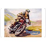 Tin Sign Motorcycle Bike Poster Metal Plate Wall Decor by Jake Box 20*30cm of Triumph Motorcycles Riding