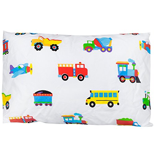 [Olive Kids Trains, Planes, Trucks 13 1/2 x 19 Hypoallergenic Toddler Pillowcase] (Pillowcase Dress Costume)