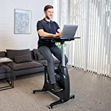 Cheap FLEXISPOT Home Office Upright Stationary Fitness Exercise Cycling Bike Height Adjustable Standing Desk – Deskcise Pro Black