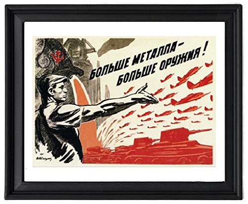 Russian PROPAGANDA VINTAGE POSTER 1941 weapons Picture Frame - Poster - Print - Russian Propaganda Poster