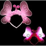 Light Up Pink Butterfly Headband (1 per package)