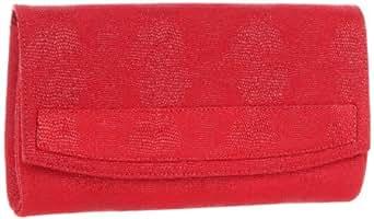 Lauren Merkin June JC2S225 Goatskin Clutch,Crimson,One Size