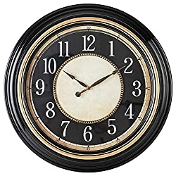 Pacific Bay Norden Huge Decorative 23-inch Wall Clock Silent, Non-Ticking, 3-D Dial, Easy-to-Read, Quartz Battery Operated