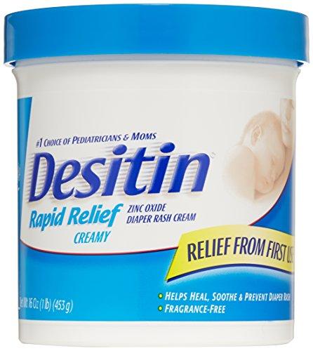 Desitin Crème pour érythème fessier Rapid Relief, 16 onces Jar
