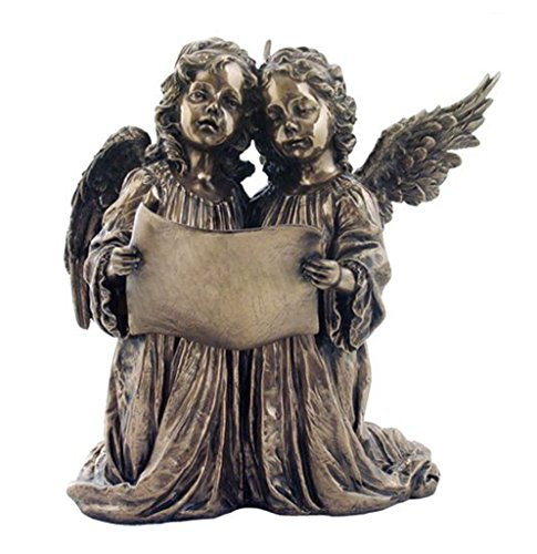 Singing Angels, Cold Cast Bronze, Statue Figurine by Masada Goods