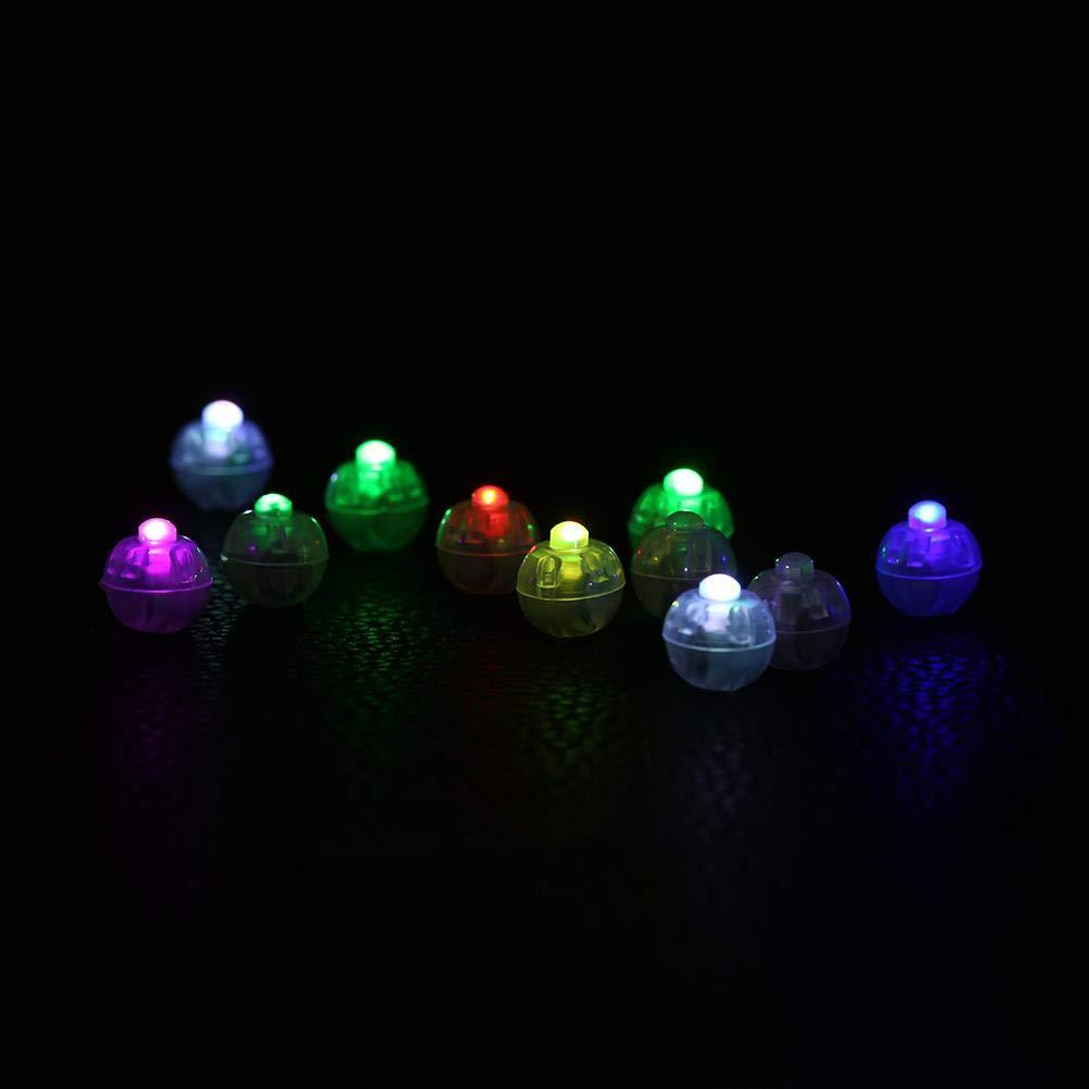 Gelb Zerodis 100Pcs LED Ballon Licht runde gef/ührte Ball Lampen Ballon Lichter f/ür Laterne Weihnacht Hochzeitsfest Dekor
