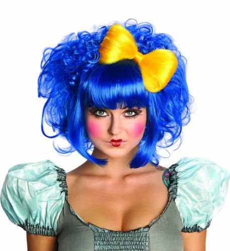 Mod Doll Costumes (Rubie's Costume Cutie Doll Costume Wig, Blue, One Size)