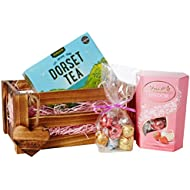 Moreton Gifts Strawberries & Cream - For You Crate - By , Lindt Chocolate, Dorset Tea Hamper - Mother's Day, Summer