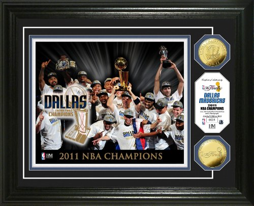 NBA 2011 Champions Celebration 24KT Gold Coin Photo Mint by The Highland Mint