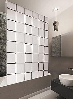 Waterproof Shower Curtain Blind Extra Long Modern Stylish Space - Waterproof roller blind for bathroom
