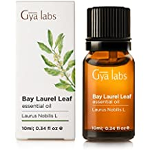 Bay Leaf (Laurel) Essential Oil - 100% Pure, Undiluted, Organic, Natural & Therapeutic Grade for Aromatherapy Diffuser, Health Skin and Relaxtion - 10ml - Gya Labs