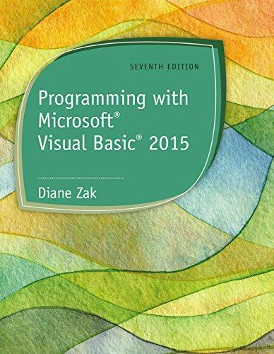 Programming with Microsoft Visual Basic 2015 Pdf