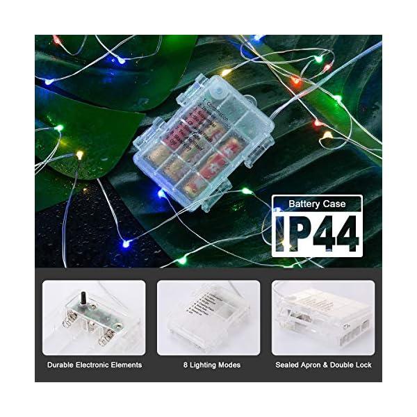 Catene Luminose, BAKTH Stringa Luci LED Impermeabile IP67 per interni/esterni/Natale/Matrimonio e camera da letto 8 Modalità(2 x 10M 100LED,Multicolore) 3 spesavip