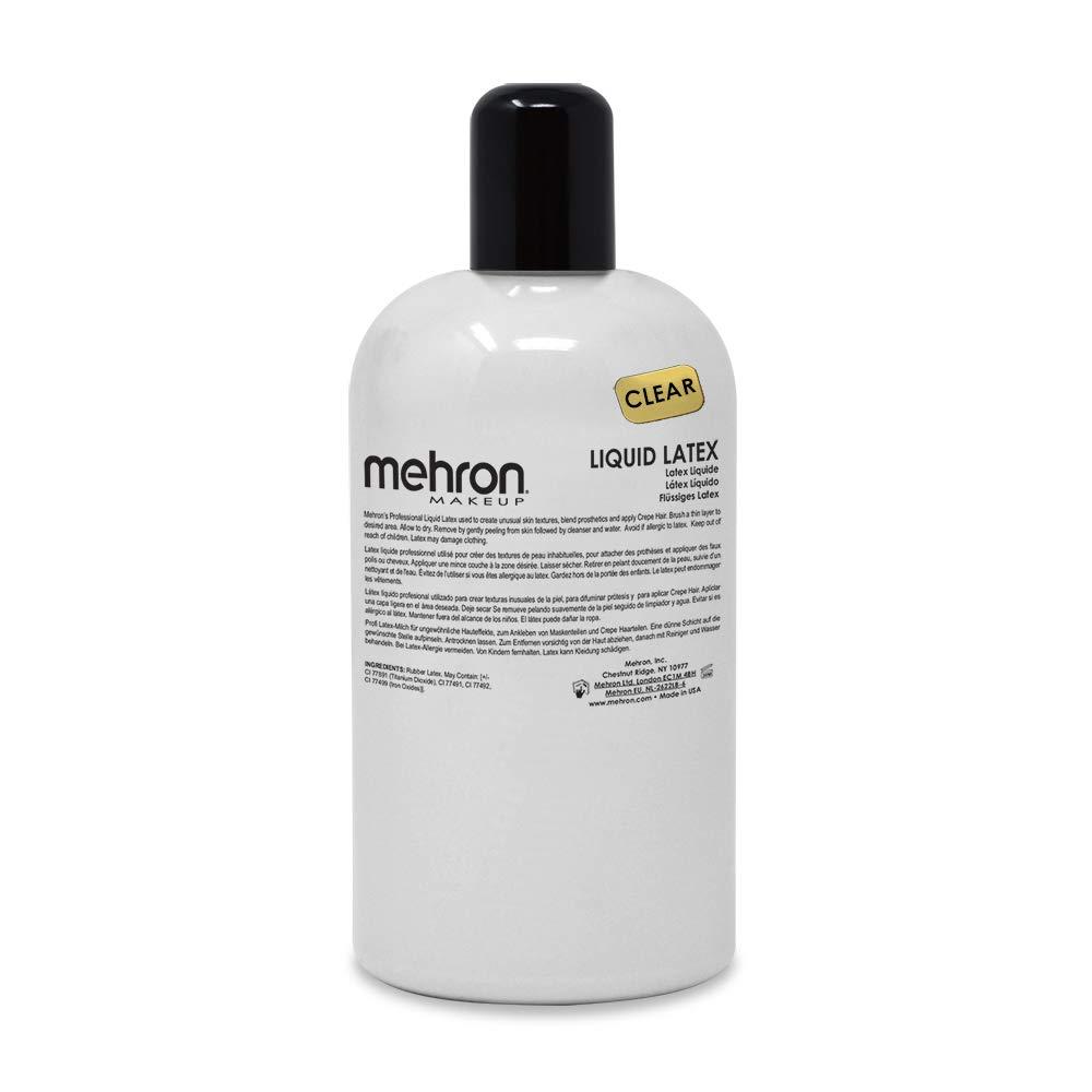 Mehron Makeup Liquid Latex (16 oz) (Clear)