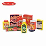 Melissa & Doug Pantry Food Set (Wooden Play Food, Pretend Play, Hand-Painted Wood, Sturdy Construction, 9 Pieces)
