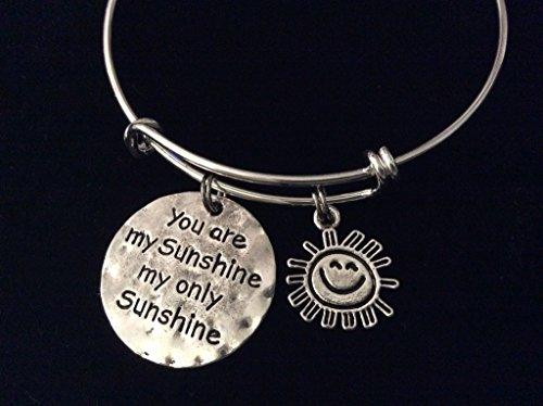 you-are-my-sunshine-my-only-sunshine-expandable-silver-charm-bracelet-adjustable-wire-bangle