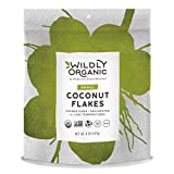 Certified Organic Coconut Flakes, Small Cut, Unsweetened, Dehydrated at Low Temperatures for Tender & Crisp Texture. Feel the Oils Melt In Your Mouth, Wildly Organic - 8 OZ