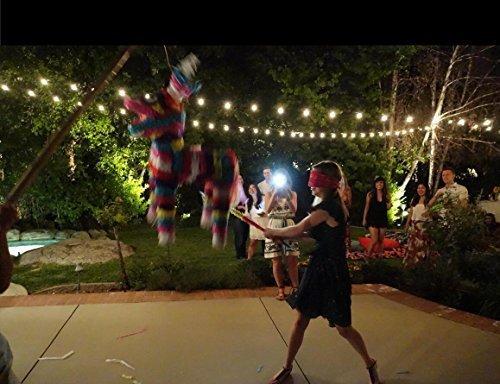 50ft Outdoor G40 Globe String Lights with 50 Clear Bulbs, Edison String Lights for Wedding Patio Backyard Pergola Garden Party Cafe Bistro Deckyard Umbrella Christmas Decoration, Black by MineTom (Image #7)