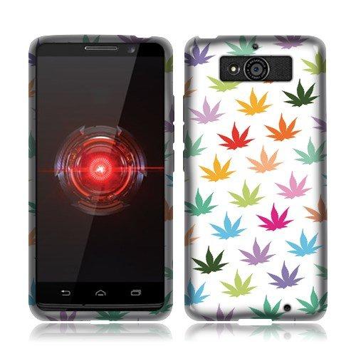 Nextkin Motorola Droid Mini XT1030 Silicone Skin Soft TPU Gel Protector Cover Case - Colorful Marijuana Leaf