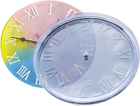 fai da te CA01L. Kit di stampi in resina di silicone numeri romani per creare gioielli in resina epossidica orologi SEVEN HITECH
