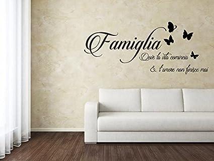 Spotapplick Adesivo Murale Wall Sticker Adesivo Per Parete Casa Famiglia Amore Cucina Soggiorno Amazon It Casa E Cucina