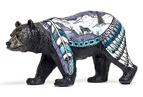 Bear Country Bear with Wolf Figurine Statue Bcwf