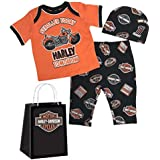 Harley-Davidson Baby Boys' H-D 3 Piece Newborn Gift...