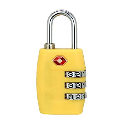 4 Digit Combination Travel Suitcase Luggage Bag Lock Padlock Reset Tsa Approve