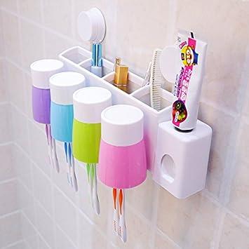 Muro creativo porta cepillo de dientes de porta cepillo de dientes cepillo taza taza cepillo y pasta de dientes para el lavado: Amazon.es: Hogar