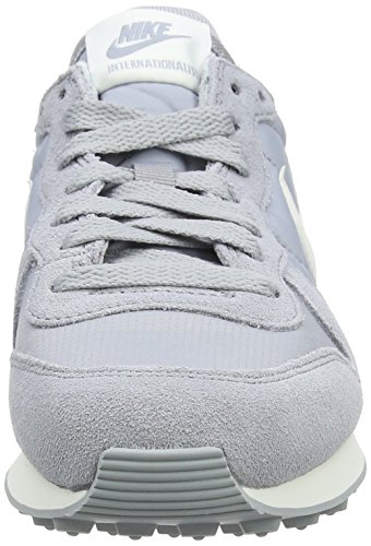 Donna Summit Grey Internationalist summit White da 023 NIKE Wolf Ginnastica White Basse sail Scarpe Grigio nXazBwqx