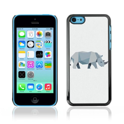 Designer Depo Etui de protection rigide pour Apple iPhone 5C / Polygone animaux