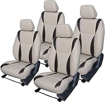 cb4f1a37829 Innova 8 seater Car Leather Seat Cover ( Gray   Black )  Amazon.in  Car    Motorbike