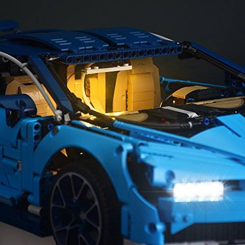LIGHTAILING Light Set for (Bugatti Chiron) Building Blocks Model - Led Light kit Compatible with Lego 42083(NOT Included The Model)