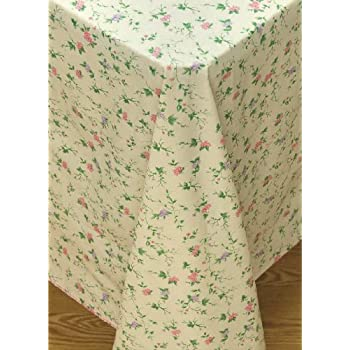 Vine Time Flannel Backed Vinyl Tablecloth, 60 Inch Round