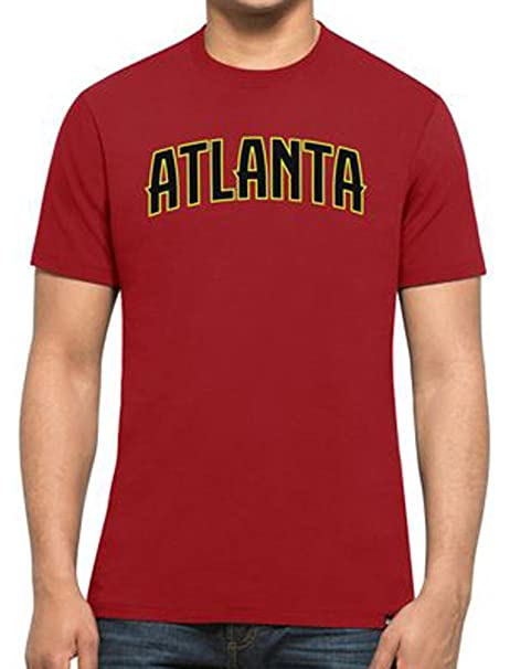 47 Forty Seven Brand Atlanta Hawks MVP Splitter Tee NBA T-Shirt Mens